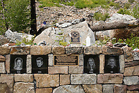 Memorial to fire fighters who died fighting the Thirty Mile Fire in the Chewuch River drainage just outside the Pasayton Wilderness in Washington State.