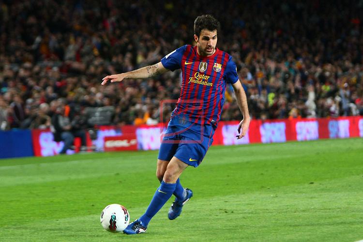 Cesc Fabregas. FC Barcelona vs RCD Espanyol: 4-0 - League BBVA 2011/12 - Game: 37.