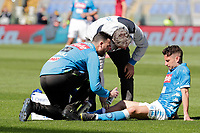 Dries Mertens of Napoli  during the  italian serie a soccer match, AS Roma -  SSC Napoli       at  the Stadio Olimpico in Rome  Italy , March 31, 2019