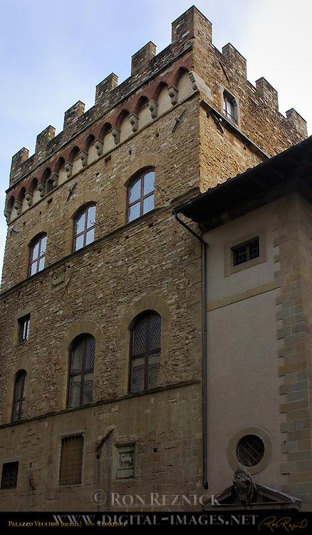 Palazzo Vecchio Via dei Leoni Facade Florence