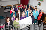 The ladies of Dromid ICA presenting a cheque for EUR800 to Dr. Kieran O'Shea for the Hospice in St Ann's Hospita,l Cahersiveen.  The money was raised through the Stars for Life Project.