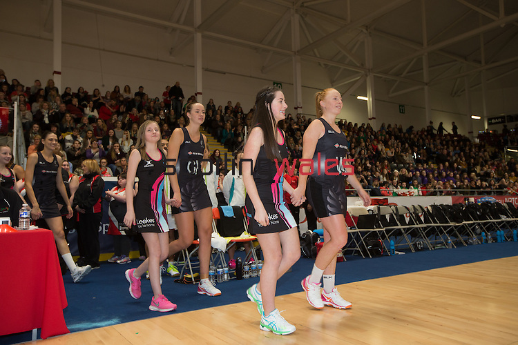 Swansea University International Netball Test Series: Wales v New Zealand<br /> Ice Arena Wales<br /> 08.02.17<br /> ©Steve Pope - Sportingwales