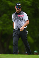 Rory Sabbatini (RSA) barely misses his birdie putt on 2 during round 3 of the 2019 Charles Schwab Challenge, Colonial Country Club, Ft. Worth, Texas,  USA. 5/25/2019.<br /> Picture: Golffile | Ken Murray<br /> <br /> All photo usage must carry mandatory copyright credit (© Golffile | Ken Murray)