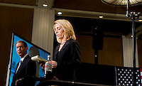 Television news anchors prepare notes before a primary Watch Party for John McCain, U.S. senator from Arizona and 2008 Republican presidential candidate in Dallas, Texas, U.S., on Tuesday, March 4, 2008. Voters in Texas go to the polls on Tuesday, March 4, to vote in the Democratic and Republican primaries. Photographer: Matt Nager/Bloomberg News