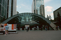 London:  Jubilee Line--Canary Wharf Station, entrance.  Foster Associates.  Photo 2005.