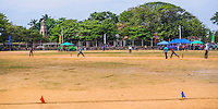 Panoramic photo of Sri Lankan people playing cricket in front of the Dutch Fort, Negombo, Sri Lanka, Asia. This is a panoramic photo of Sri Lankan people playing cricket in front of the Dutch Fort in Negombo, Sri Lanka, Asia.