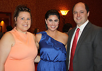 NWA Democrat-Gazette/CARIN SCHOPPMEYER Charlene Jones (from left) and Kirby Jett Harris and Nathan Harris attend the Heart Ball.