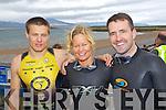 PARTICIPANTS: Milosz Wojcik, Juliette Troccaz and Jim Breen who took part in the Tralee Triathlon Club Event in Fenit on Saturday.