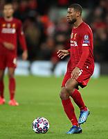 11th March 2020; Anfield, Liverpool, Merseyside, England; UEFA Champions League, Liverpool versus Atletico Madrid;  Georginio Wijnaldum of Liverpool controls the ball