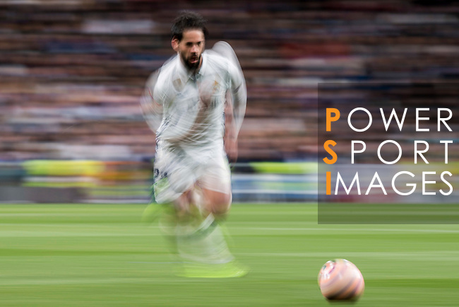Isco Alarcon of Real Madrid in action during their La Liga match between Real Madrid and Real Betis at the Santiago Bernabeu Stadium on 12 March 2017 in Madrid, Spain. Photo by Diego Gonzalez Souto / Power Sport Images
