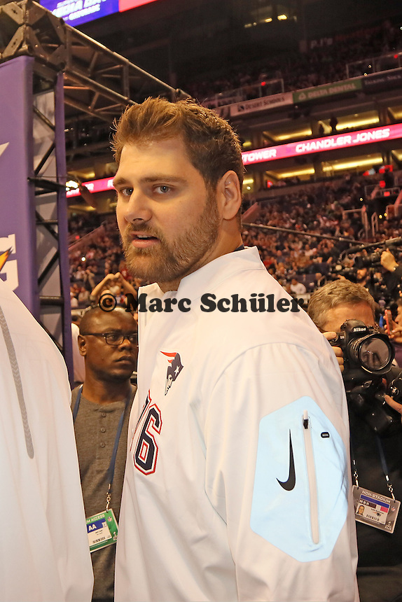 Sebastian Vollmer (Patriots)  - Super Bowl XLIX Media Day, US Airways Center, Phoenix