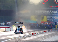 Sep 2, 2017; Clermont, IN, USA; NHRA top fuel driver Ashley Sanford during qualifying for the US Nationals at Lucas Oil Raceway. Mandatory Credit: Mark J. Rebilas-USA TODAY Sports