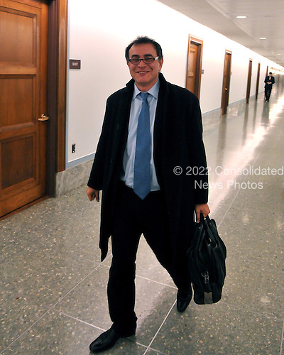 Washington, DC - October 30, 2008 -- Nouriel Roubini, Professor of Economics and International Business, New York University, departs the Dirksen Senate Office Building after giving testimony before the Joint Economic Committee hearing on ?Faltering Economic Growth and the Need for Economic Stimulus? in Washington, DC on Thursday, October 30, 2008..Credit: Ron Sachs / CNP