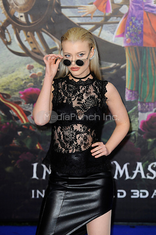 LONDON, ENGLAND - MAY 10: Alice Chater attending the 'Alice Through The Looking Glass' European Premiere at Odeon Cinema, Leicester Square in London. on May 10, 2016 in London, England.<br /> CAP/MAR<br /> &copy; Martin Harris/Capital Pictures /MediaPunch ***NORTH AND SOUTH AMERICA ONLY***