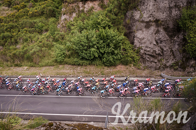 peloton riding through the Latio region during the most southern stage of this 102nd Giro<br /> <br /> Stage 6: Cassino to San Giovanni Rotondo (233km)<br /> 102nd Giro d'Italia 2019<br /> <br /> ©kramon