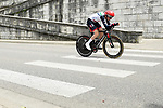 Daniel Martin (IRL) UAE Team Emirates in action during the opening Prologue of the 2018 Criterium du Dauphine running 6.6km around Valence, France. 3rd June 2018.<br /> Picture: ASO/Alex Broadway | Cyclefile<br /> <br /> <br /> All photos usage must carry mandatory copyright credit (&copy; Cyclefile | ASO/Alex Broadway)