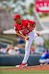 28 February 2019: St. Louis Cardinals pitcher Jordan Hicks on the mound during a Spring Training game against the New York Mets at Roger Dean Stadium in Jupiter, Florida. The Mets defeated the Cardinals 3-2 in Grapefruit League play. Mandatory Credit: Ed Wolfstein Photo *** RAW (NEF) Image File Available ***