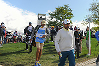 Anirban Lahiri (IND) makes his way to 4 during round 3 Four-Ball of the 2017 President's Cup, Liberty National Golf Club, Jersey City, New Jersey, USA. 9/30/2017.<br /> Picture: Golffile | Ken Murray<br /> <br /> All photo usage must carry mandatory copyright credit (&copy; Golffile | Ken Murray)