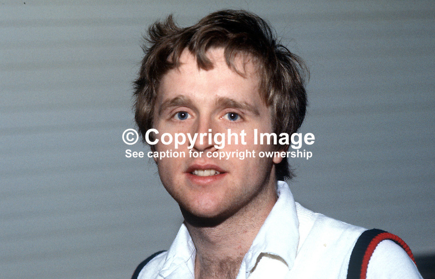 John Phelan, Waterford, Rep of Ireland, Irish squash player, 19840158JP1..Copyright Image from Victor Patterson, 54 Dorchester Park, Belfast, UK, BT9 6RJ..Tel: +44 28 9066 1296.Mob: +44 7802 353836.Voicemail +44 20 8816 7153.Skype: victorpattersonbelfast.Email: victorpatterson@me.com.Email: victorpatterson@ireland.com (back-up)..IMPORTANT: If you wish to use this image or any other of my images please go to www.victorpatterson.com and click on the Terms & Conditions. Then contact me by email or phone with the reference number(s) of the image(s) concerned.