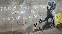 APR 29 Banksy Artwork in Marble Arch