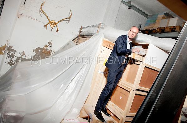 French art collector Frederic de Goldschmidt in his gallery in Brussels (Belgium, 15/04/2015)