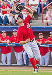 5 March 2015: Washington Nationals first baseman Ryan Zimmerman pulls in an infield fly during a Spring Training game against the New York Mets at Space Coast Stadium in Viera, Florida. The Nationals rallied to defeat the Mets 5-4 in their Grapefruit League home opening game. Mandatory Credit: Ed Wolfstein Photo *** RAW (NEF) Image File Available ***