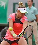 Marina Erakovic (NZL) loses to Petra Kvitova (CZE) 6-4, 3-6, 6-4 at  Roland Garros being played at Stade Roland Garros in Paris, France on May 26, 2015