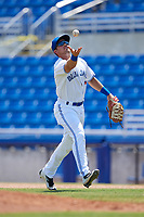 Dunedin Blue Jays first baseman Nash Knight (35) during a game against the Daytona Tortugas on April 22, 2018 at Dunedin Stadium in Dunedin, Florida.  Daytona defeated Dunedin 5-1.  (Mike Janes/Four Seam Images)
