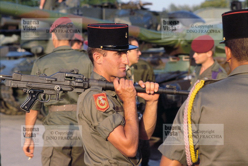 - French soldier during NATO military exercises in Germany<br />