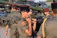 - French soldier during NATO military exercises in Germany<br /> <br /> - soldato francese durante esercitazioni militari NATO in Germania