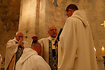 Ordination ceremony at the Crusader Church in Abu Gosh