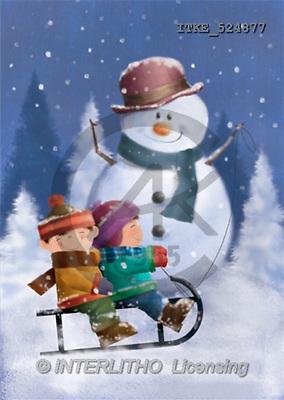 Isabella, CHRISTMAS SANTA, SNOWMAN, paintings(ITKE524877,#X#) Weihnachtsmänner, Schneemänner, Weihnachen, Papá Noel, muñecos de nieve, Navidad, illustrations, pinturas