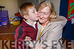 Kyle Flaherty giving his nan Breda Flaherty a big hug at the Grandparents Day in Moyderwell NS on Thursday