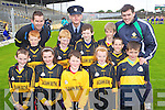Pupils from Glenbeigh N.S. pictured at the Killarney Garda football blitz in Fitzgerald Stadium, Killarney on Friday, front row l-r: Dara Casey, Laura Sheehan, Liam Smith, Rachel Sheehan, Rian O'Donovan, Sean Coffey. Back row l-r: Sean Sheehan, Garda Eddie Walsh, Padraic McMahon, Sgt. Dermot O'Connell, Patrick Griffin, Daniel McGillicuddy, Garda Nigel Shevlin.