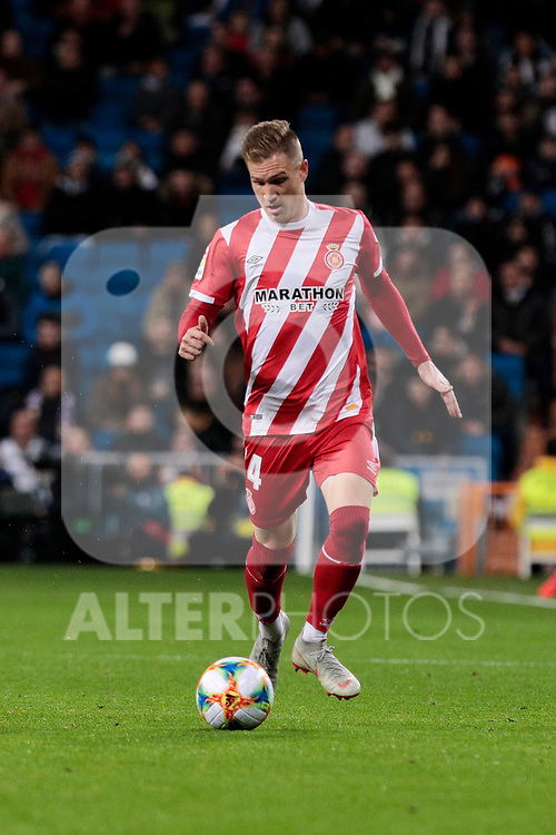 Girona FC's Pedro Porro during Copa del Rey match between Real Madrid and Girona FC at Santiago Bernabeu Stadium in Madrid, Spain. January 24, 2019. (ALTERPHOTOS/A. Perez Meca)