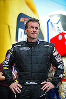 Nov. 2, 2008; Las Vegas, NV, USA: NHRA top fuel dragster driver Clay Millican during the Las Vegas Nationals at The Strip in Las Vegas. Mandatory Credit: Mark J. Rebilas-