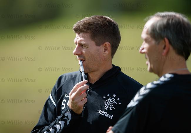 10.08.18 Rangers training: Steven Gerrard and Mark Waller