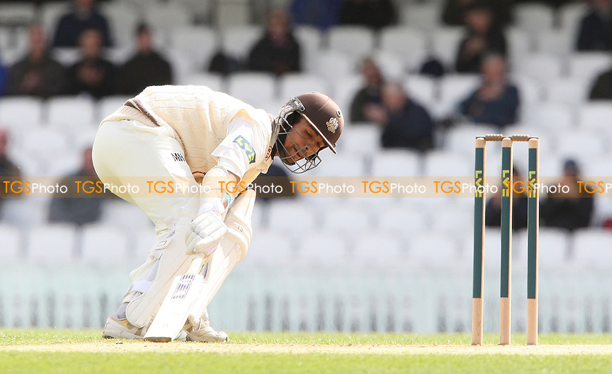 Arun Harinath of Surrey - Surrey CCC vs Somerset CCC, LV County Championship Division 1 at The Kia Oval, Kennington - 18/04/13 - MANDATORY CREDIT: Rob Newell/TGSPHOTO - Self billing applies where appropriate - 0845 094 6026 - contact@tgsphoto.co.uk - NO UNPAID USE.