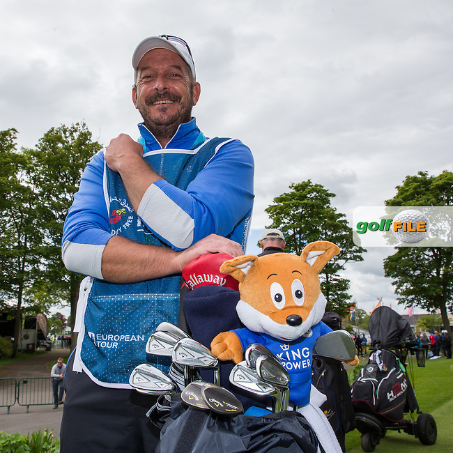 Proud Leicester City fan Ken Herring adorns the bag with a Filbert Fox head cover, during Wednesday's Pro-Am ahead of the 2016 Dubai Duty Free Irish Open Hosted by The Rory Foundation which is played at the K Club Golf Resort, Straffan, Co. Kildare, Ireland. 18/05/2016. Picture Golffile | David Lloyd.<br /> <br /> All photo usage must display a mandatory copyright credit as: &copy; Golffile | David Lloyd.