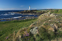 Turnberry Lighthouse and from the 9th tee of Turnberry Golf Course, Ayrshire<br /> <br /> Copyright www.scottishhorizons.co.uk/Keith Fergus 2011 All Rights Reserved