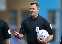 Match referee, Mr James Linington during Gillingham vs Burton Albion, Sky Bet EFL League 1 Football at The Medway Priestfield Stadium on 10th August 2019