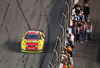 Feb 9, 2008; Daytona, FL, USA; ARCA RE/MAX Series driver Michael Annett (28) celebrates after winning the ARCA 200 at Daytona International Speedway. Mandatory Credit: Mark J. Rebilas-US PRESSWIRE
