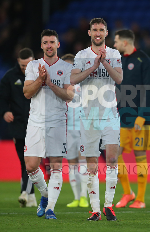 Chris Basham of Sheffield Utd celebrates the win during the Premier League match at Selhurst Park, London. Picture date: 1st February 2020. Picture credit should read: Paul Terry/Sportimage