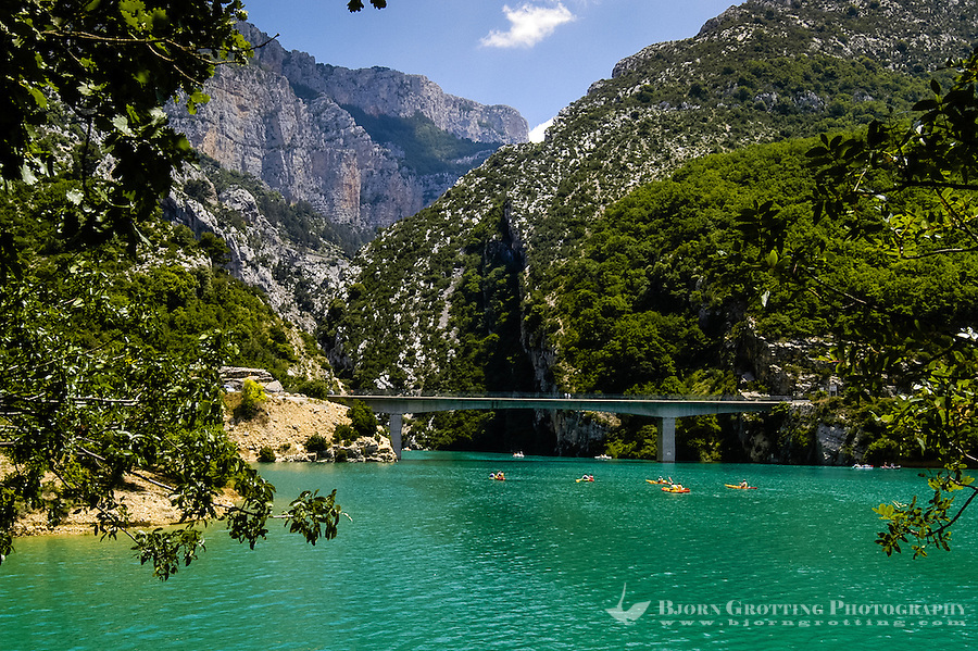 The Verdon Gorge in southern France was formed by the 166 km long Verdon River. A popular destination for tourists.