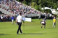 Mikko Ilonen (FIN) walks to the 18th green during Friday's Round 2 of the 2014 Irish Open held at Fota Island Resort, Cork, Ireland. 20th June 2014.<br /> Picture: Eoin Clarke www.golffile.ie