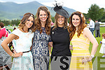 Josie McCannon (Killarney), Marie Fleming (Killarney), Jennifer Kuan (Killarney) and Suzanne O'Donohgue (Killarney) enjoying Ladies Day last Thursday afternoon in Killarney..