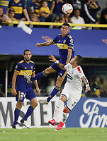 "BUENOS AIRES-ARGENTINA, 10-03-2020: Jhorman Campuzano de Boca Juniors y Leonardo Castro of de Deportivo Independiente Medellin disputan el balon durante partido de la fase de grupos, grupo H, fecha 2, entre Boca Juniors (ARG) y Deportivo Independiente Medellin (COL) por la Copa Conmebol Libertadores 2020, en el estadio Alberto Jose Armando ""La Bombonera"", de la ciudad Ciudad Autonoma de Buenos Aires. / Jhorman Campuzano of Boca Juniors and Leonardo Castro of Deportivo Independiente Medellin vie for the ball during a match of the groups phase, group H, 2nd date, between Boca Juniors (ARG) of Deportivo Independiente Medellin (COL) for the Conmebol Libertadores Cup 2020, at the Alberto Jose Armando ""La Bombonera"", in Ciudad Autonoma de Buenos Aires. VizzorImage / Javier Garcia Martino / Photogamma / Cont."