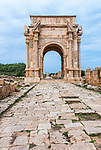 The Arch of Septimius Severus in Leptis Magna in Libya.