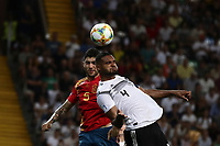 Spain's Unai Nunez and Germany's Jonathan Tah jump for the ball during the Uefa Under 21 Championship 2019 football final match between Spain and Germany at Udine's Friuli stadium, Italy, June 30, 2019. Spain won 2-1.<br /> UPDATE IMAGES PRESS/Isabella Bonotto