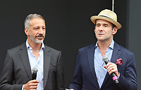 UNIVERSAL CITY, CA - AUGUST 02: David Kohan, Max Mutchnick, At 'Will & Grace' Start Of Production Kick Off Event And Ribbon Cutting Ceremony At Universal City Plaza  In California on August 02, 2017. Credit: FS/MediaPunch